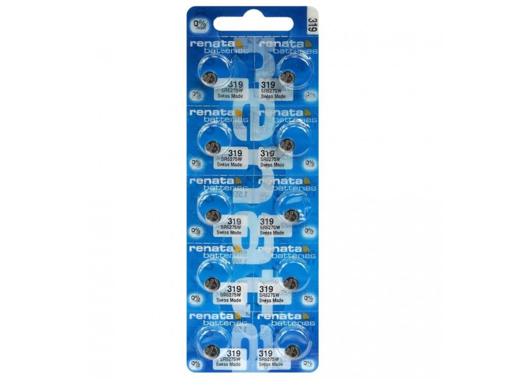 Batéria hodinková Renata 319, SR527SW, SR64 10 ks