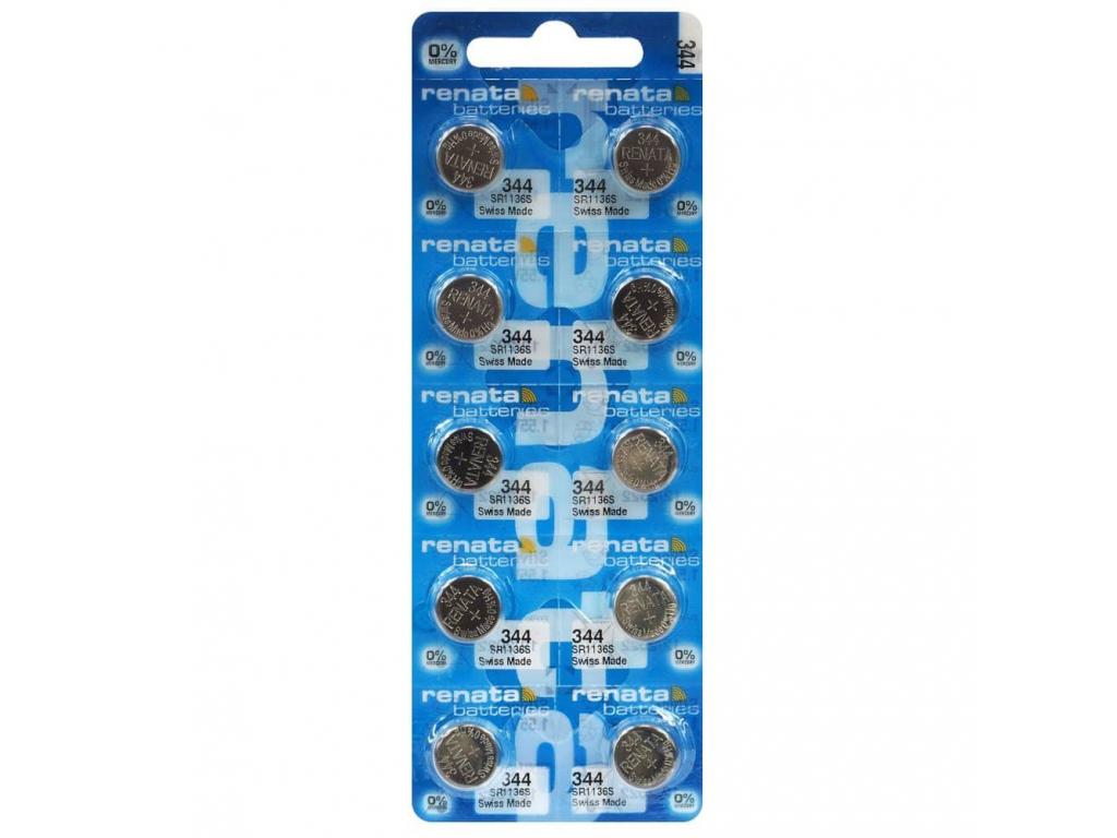 Batéria hodinková Renata 344, SR1136SW, SR42 10 ks