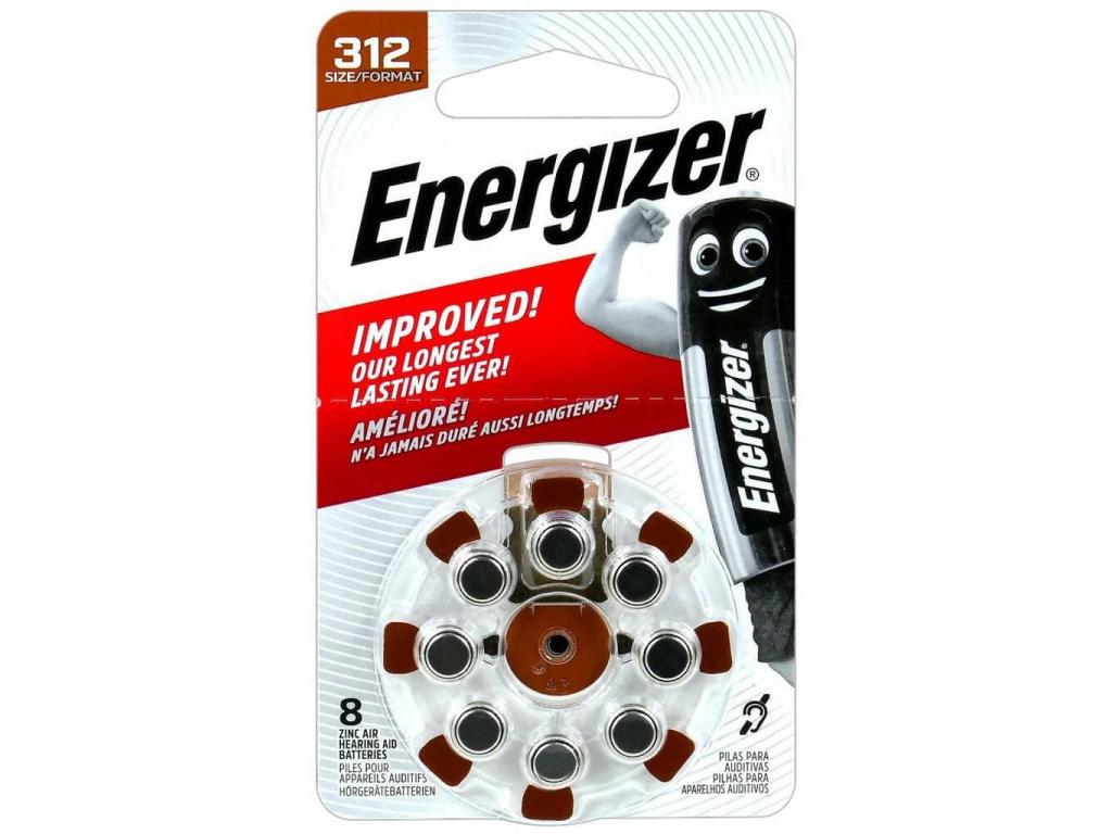 Batérie do načúvacích prístrojov 8 ks Energizer 312 PR41