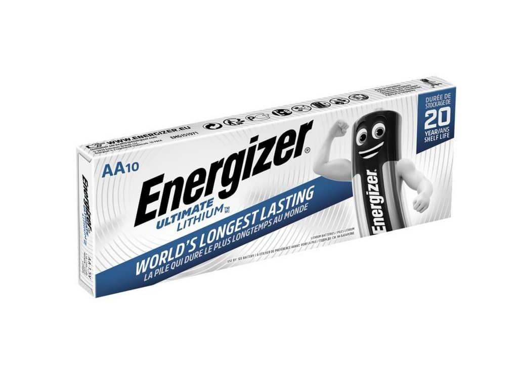 Batérie Energizer Ultimate Lithium L91 R6 AA 10 ks VÝHODNÉ BALENIE