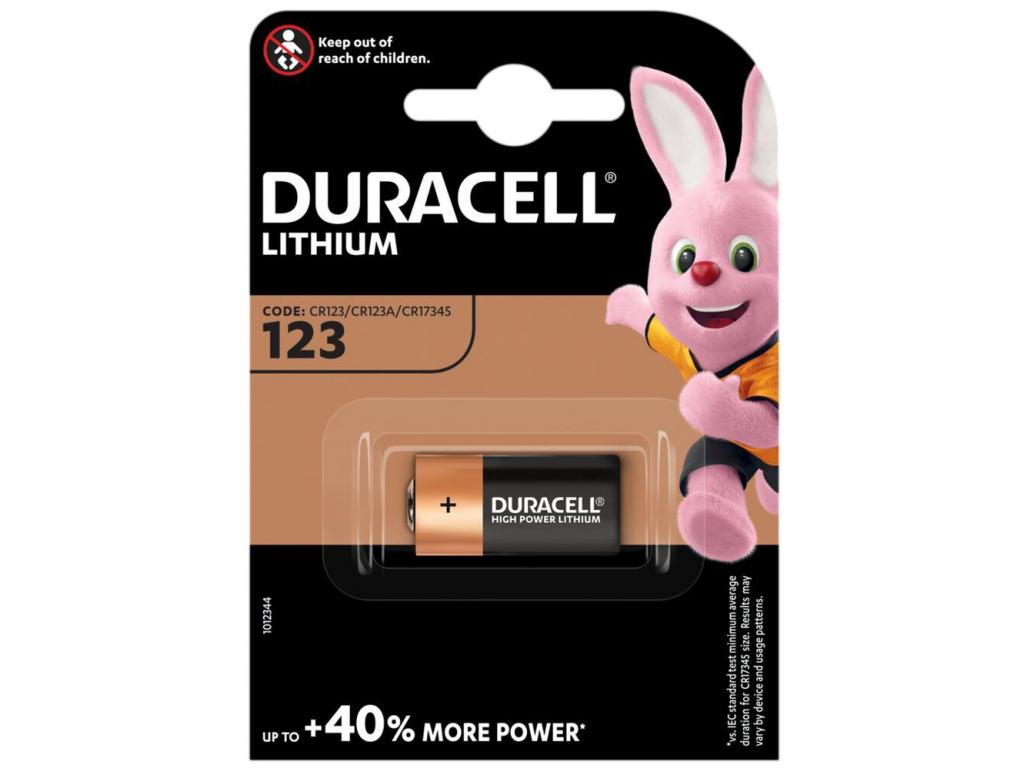 Bateria Duracell CR123 1 ks