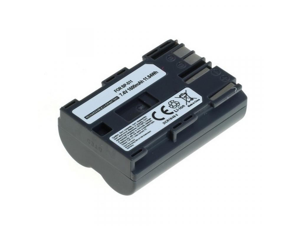 Batéria pre Canon BP-511, Li-ion 1600 mAh