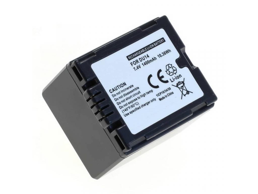 Batéria pre Panasonic CGA-DU14, Li-ion 1400 mAh