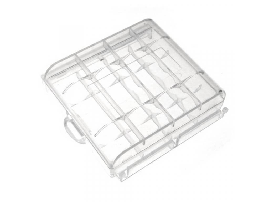 Plastové púzdro na 4 ks AA tužkové batérie alebo 4 ks AAA mikrotužkové batérie