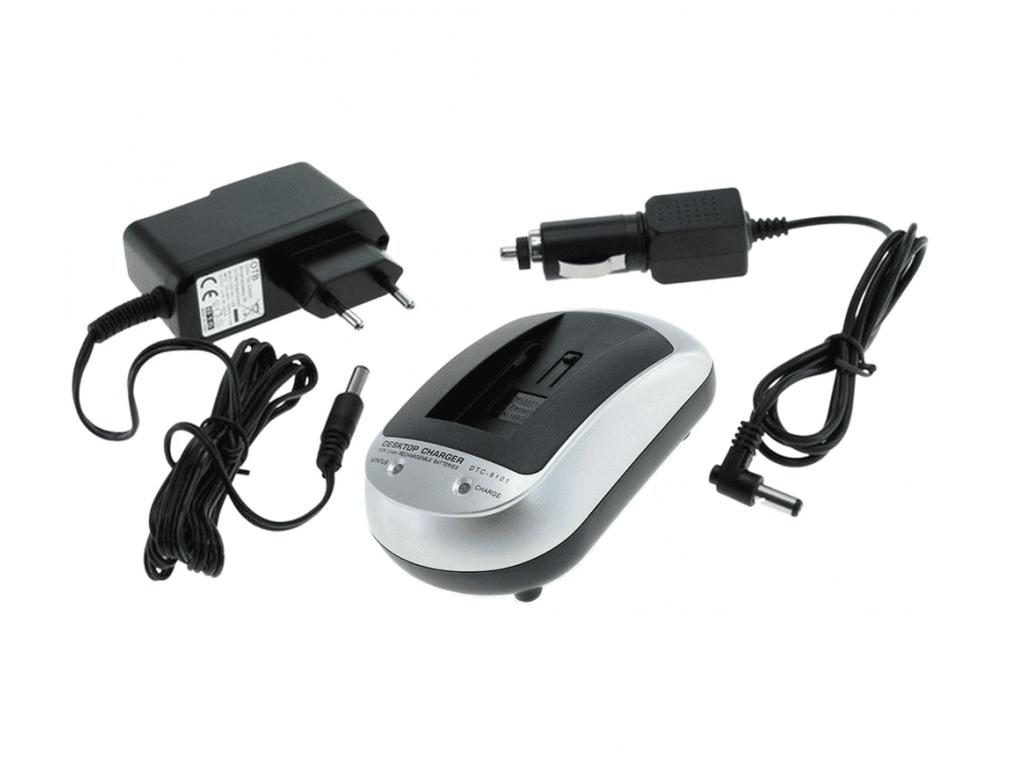 Nabíjačka pre batérie Fuji NP-120, NP120, Pentax D-LI7, Ricoh DB-43, Kyocera/Contax BP-1500S