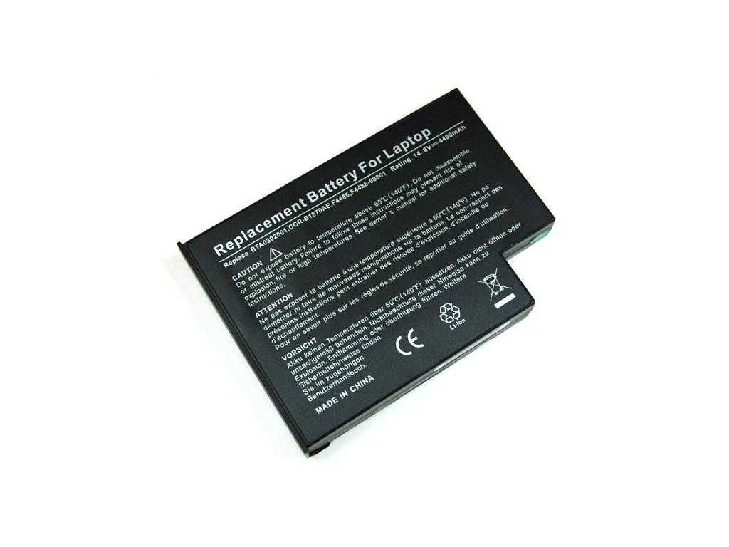 Batéria kompatibilná s Acer Aspire 1300 / Fujitsu-Siemens Amilo M6800 Li-Ion 4400 mAh čierna