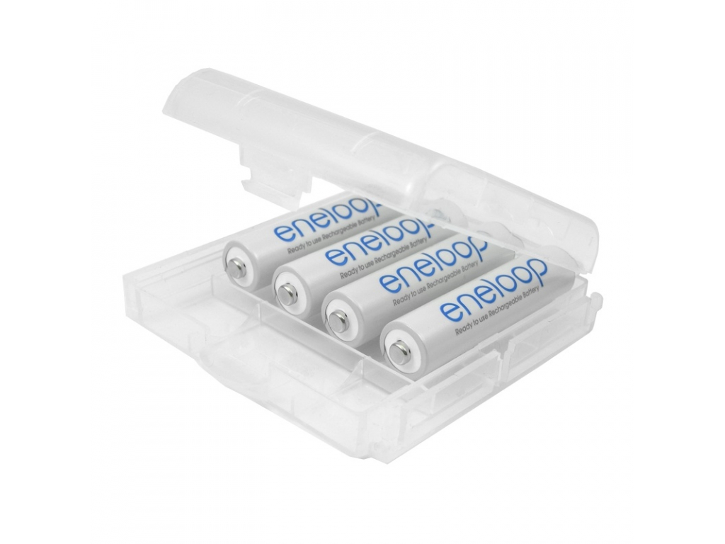 Panasonic akumulátory eneloop AAA 750 mAh mikrotužkové 4 ks + púzdro na batérie ZDARMA