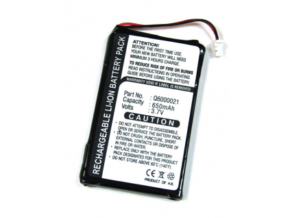 Batéria pre TomTom GPS-9821X / GPS-9821X PDA Li-Ion 650 mAh