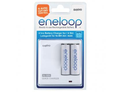 Sanyo Eneloop rýchlonabíjačka MDR02 + 2 ks Sanyo Eneloop AA tužkové batérie 2000 mAh