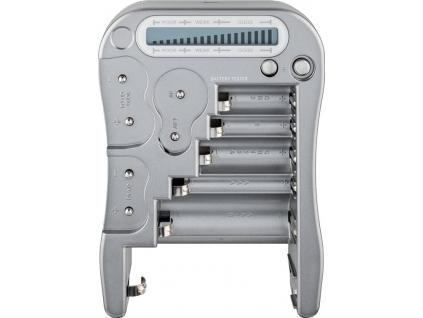 Tester batérií AA, AAA, C, D, 9V, CR123A, CR2, CR V3, 2CR5, CR P2, 1,5V a 3V gombíkové batérie