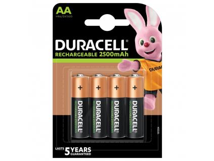 Akumulátory Duracell Recharge R6/AA 2500 mAh 4 ks blister