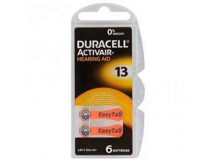 Batérie Duracell Activair 13 do načúvacích prístrojov 6 ks
