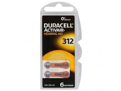 Duracell Activair 312 batérie do načúvacích prístrojov 6 ks