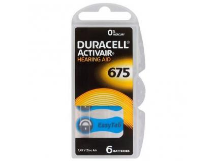 Batérie Duracell Activair 675 do načúvacích prístrojov 6 ks