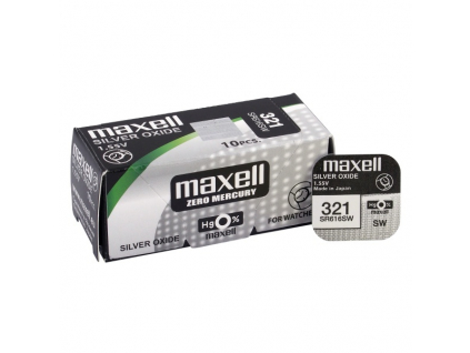 Batéria gombíková mini Maxell 321, SR 616 SW
