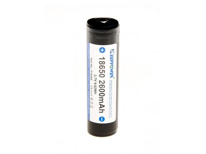 Akumulátor KeepPower 18650 Li-ion 3,7V 2600mAh s ochranným obvodom