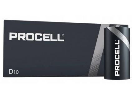 Batéria Duracell Industrial (PROCELL) LR20 D 1.5 V 10 ks balenie