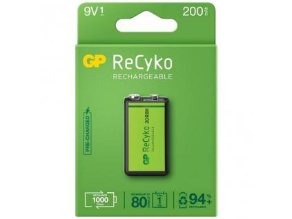 Akumulátor 9V / 6F22 GP ReCyko+ 200 Series 200mAh