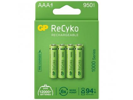 Nabíjacie batérie R03/AAA GP ReCyko+ 1000 Series 950mAh 4 ks blister