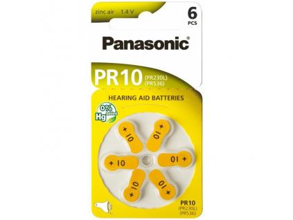 Batérie do načúvacích prístrojov 6 ks Panasonic 10 / PR10 / PR230L / PR536 / PR70