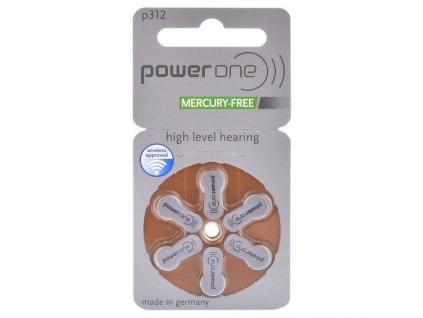 Batérie do načúvacích prístrojov 6 ks Varta Power One 312 / PR312 / PR41