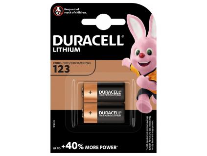 Bateria Duracell CR123 2 ks