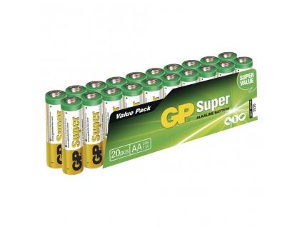 Baterie GP Super Alkaline AA LR6 20 ks balenie