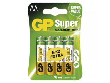 Baterie GP Super Alkaline AA R6 8 ks balenie