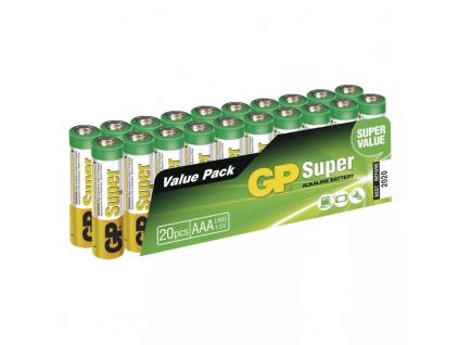 Baterie GP Super Alkaline AAA LR03 20 ks balenie