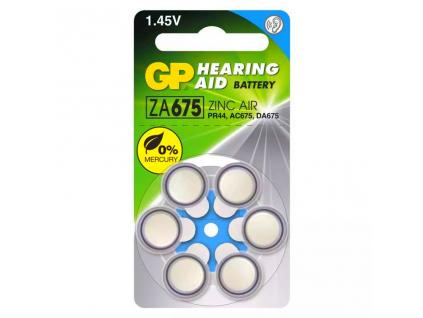 Batérie do načúvacích prístrojov 6 ks GP 675 ZA675 PR44