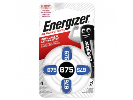 Batérie do načúvacích prístrojov 4 ks Energizer 675 PR44