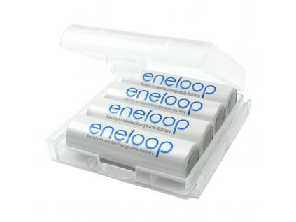 Panasonic akumulátory eneloop AA 1900 mAh tužkové 4 ks + púzdro na batérie ZADARMO