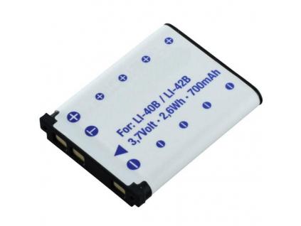 Batéria pre Olympus Li-40B, Li-42B Li-ion 700 mAh