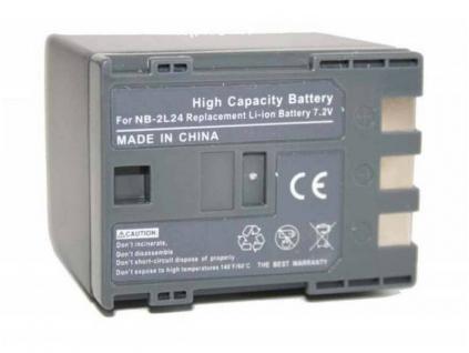 Batéria pre Canon BP-2L24, BP2L24, NB-2L24, NB2L24, NB 2L24 Li-ion 2400 mAh
