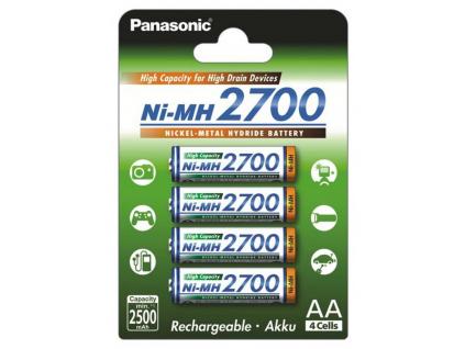 Batérie Panasonic AA tužkové nabíjacie 2700 mAh 4 ks blister