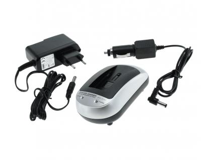 Nabíjačka pre batérie Panasonic CGA-S004, CGA-S004E/1B, DMW-BCB7, Benq DLI-102, Fuji NP-40, NP-40A, , Pentax D-Li8, Praktica LB-5030, Samsung SLB-0737