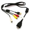 USB-/AV Prepojovací kábel kompatibilný s Sony Cyber-Shot VMC-MD2