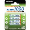 Akumulátory Panasonic R03 AAA 1000 mAh 4 ks blister