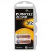 Batérie Duracell Activair 312 do načúvacích prístrojov 6 ks