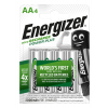 Nabíjacie batérie Energizer Power Plus R6 / AA Ni-MH 2000 mAh - 4 ks blister