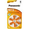 Batérie do načúvacích prístrojov 6 ks Panasonic 13 / PR13 / PR48
