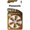 Batérie do načúvacích prístrojov 6 ks Panasonic 312 / PR312 / PR41