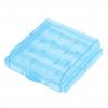 Plastové púzdro na 4 ks AA tužkové batérie alebo 4 ks AAA mikrotužkové batérie modré