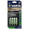 Nabíjačka Varta LCD 57687 + 4 ks batérie AA R6 Varta 2100 mAh