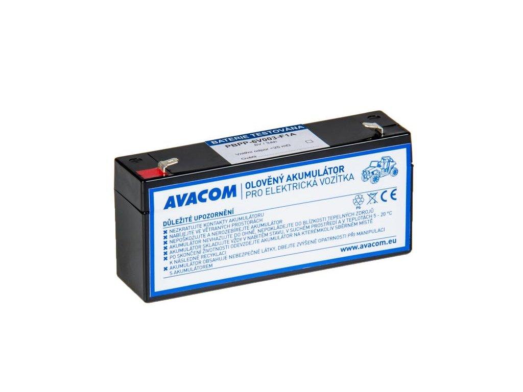 Náhradní baterie (olověný akumulátor) 6V 3Ah do vozítka Peg Pérego F1