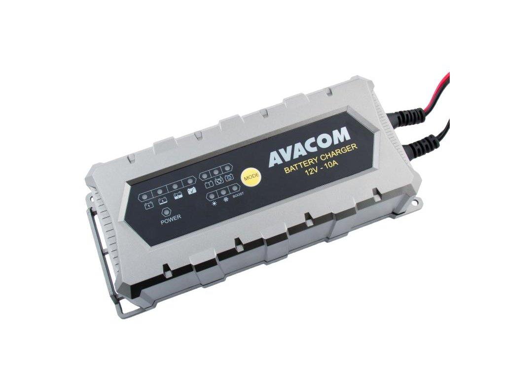 Automatická nabíječka AVACOM 12V 10A pro olověné AGM/GEL akumulátory (20 - 200Ah)