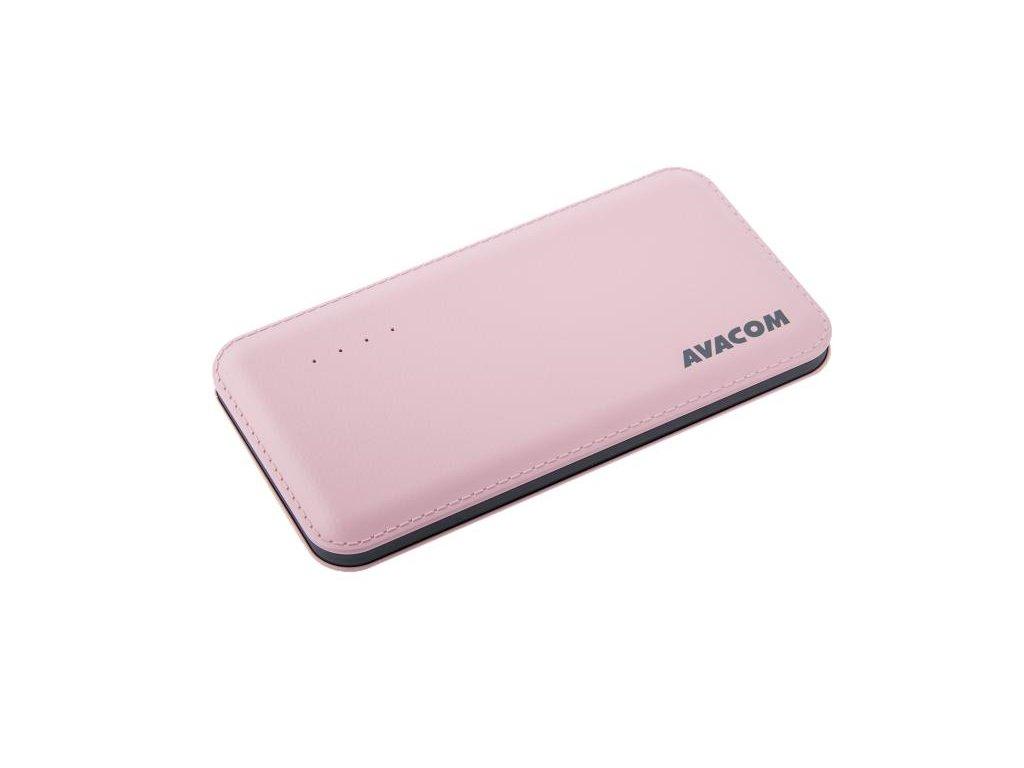 AVACOM externí baterie PWRB-8001P, Li-Pol, kapacita 8000mAh, výstup 5V/2.1A, růžová
