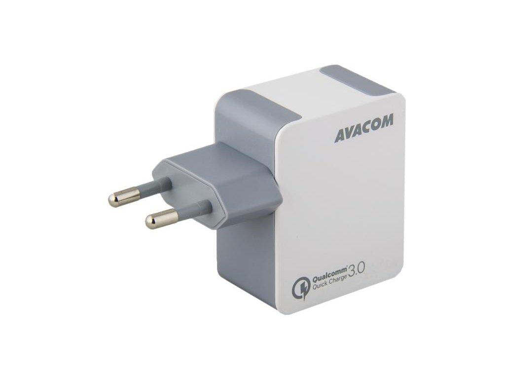 AVACOM HomeMAX síťová nabíječka Qualcomm Quick Charge 3.0, bílá