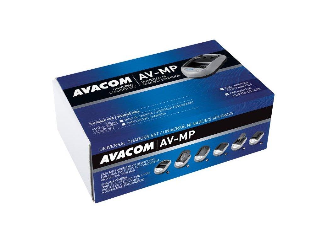 AV-MP univerzální nabíjecí souprava pro foto a video akumulátory - krabicové balení