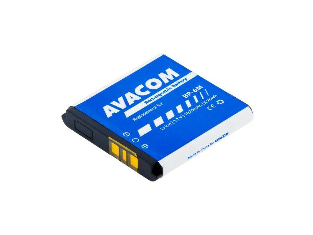 Baterie do mobilu Nokia 6233, 9300, N73 Li-Ion 3,7V 1070mAh (náhrada BP-6M)